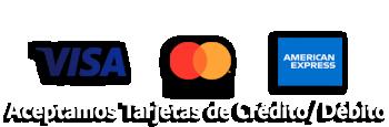 Aceptamos Tarjetas de Crédito/Débito.